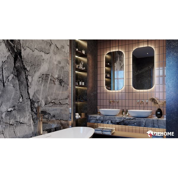 Gương Nhà Tắm Hình Bầu Dục Có Led Cao Cấp Dehome - D612.1C