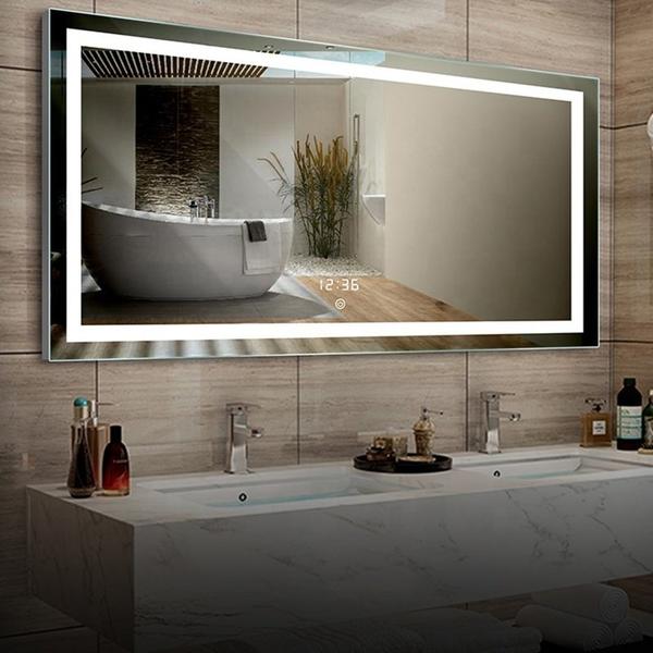 Gương Nhà Tắm Đèn Led Vàng Cao Cấp Dehome - D127.3D