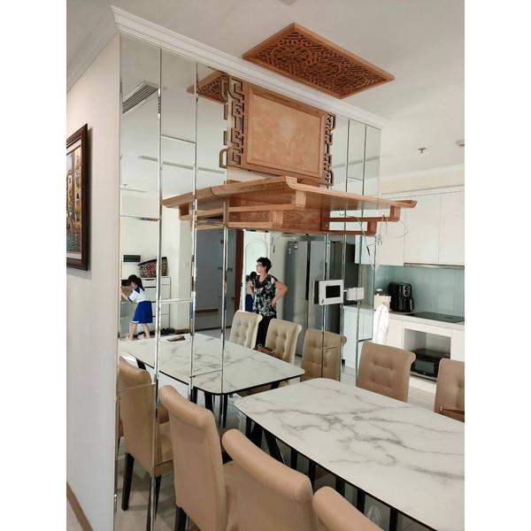 Gương Trang Trí Dán Tường Cao Cấp Phòng Bếp Dehome - DT26