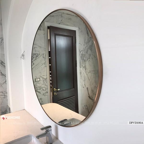 Gương khung mạ PVD màu vàng hồng  Dehome - DPVD70A