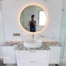 Gương Nhà Tắm Hình Tròn Có Đèn Led Viền Mạ PVD Cao Cấp - DPVD60.4A