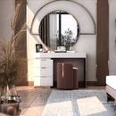 Gương khung mạ PVD màu vàng hồng bàn trang điểm Dehome - DPVD100C