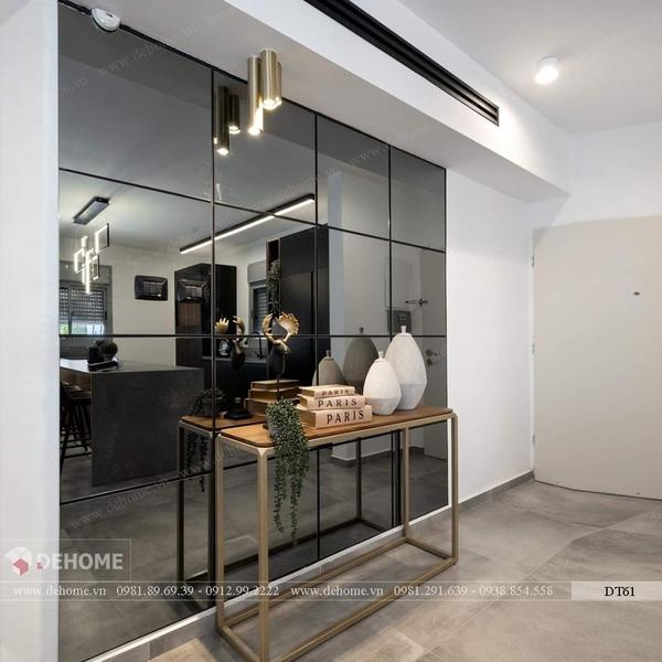 Gương ghép dán tường phòng khách Dehome DT61