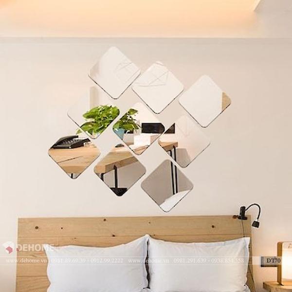 Gương ghép dán tường phòng khách Dehome DT70