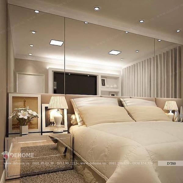 Gương ghép dán tường phòng ngủ Dehome DT60