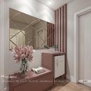 Gương trang trí dán tường phòng khách Dehome DT58