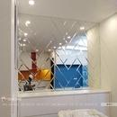 Gương ghép dán tường cho phòng khách DT75