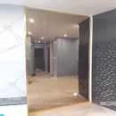 Gương ghép dán tường phòng khách DT72