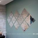 Gương ghép dán tường trang trí phòng khách DT76