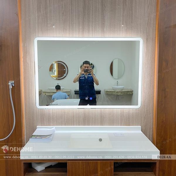 Gương Nhà Tắm Chữ Nhật Đèn Led Cao Cấp Dehome - D128.4A