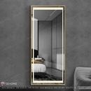 Gương đứng khung mạ inox mạ vàng cao cấp Dehome - DPVD6517.1A