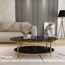 Bàn sofa inox mạ vàng cao cấp Dehome - DBT05