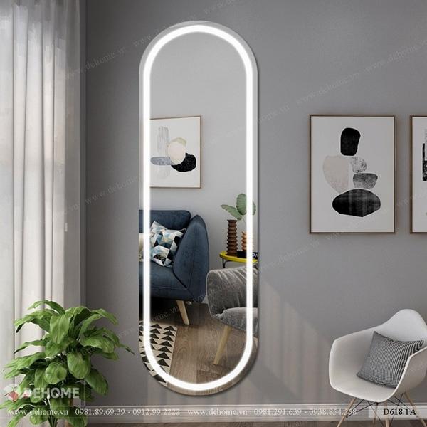 Gương dài có đèn led cao cấp Dehome - D618.1A