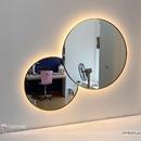 Gương Trang Điểm Hình Tròn Có Đèn Led Viền Mạ PVD Cao Cấp - DPVD5070.2A