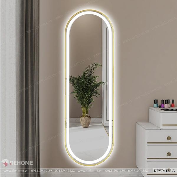 Gương đứng toàn thân bầu dục có đèn Dehome - DPVD618.1A
