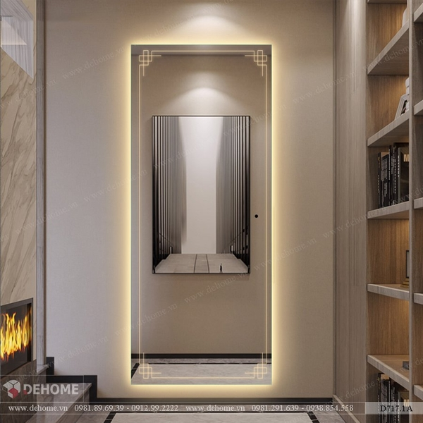 Gương đứng toàn thân có đèn led cao cấp Dehome - D717.1A