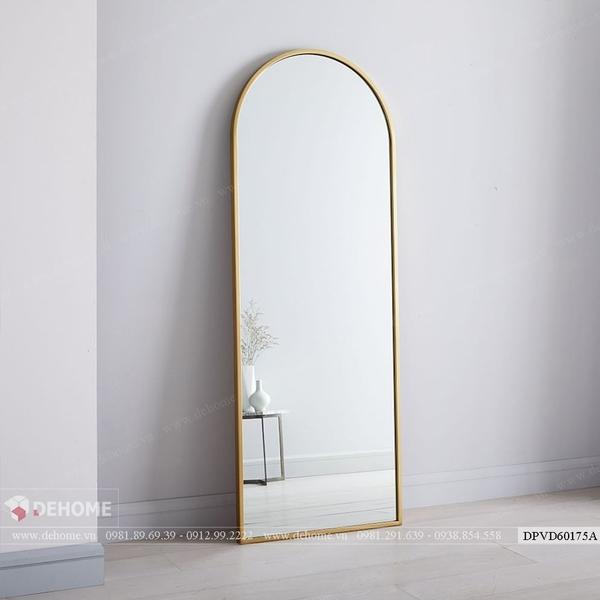 Gương khung kim loại hình vòm soi toàn thân cao cấp Dehome DPVD60175A