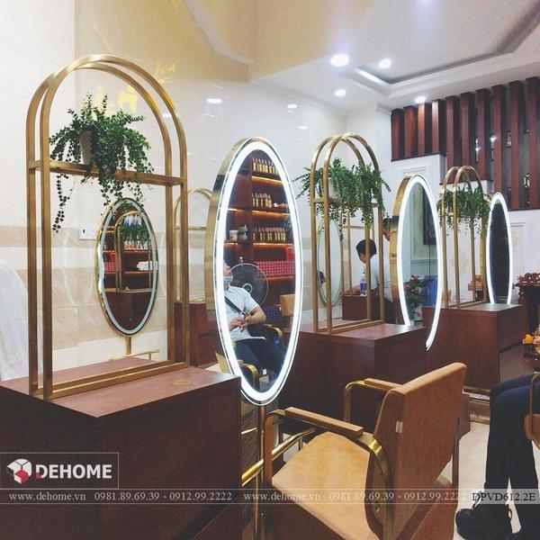 Gương Salon Khung Inox Mạ Vàng PVD Cao Cấp - DPVD612.2E