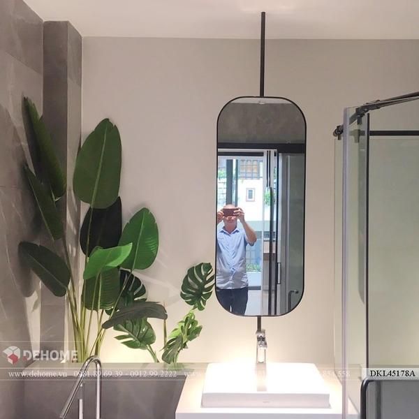 Gương phòng tắm inox sơn tĩnh điện cao cấp Dehome - DKL45178A
