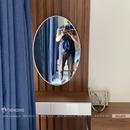Gương bàn trang điểm hình elip khung sơn tĩnh điện Dehome - DKL69G