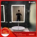 Gương nhà tắm chữ nhật đèn led cao cấp Dehome - KM5