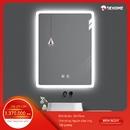 Gương nhà tắm chữ nhật đèn led sấy phá sương Dehome (sản phẩm treo showroom) - KM11