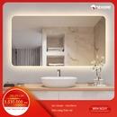 Gương nhà tắm chữ nhật đèn led Dehome - KM10
