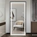 Gương dài khung sơn tĩnh điện có đèn Dehome - DKL717.2A