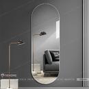 Gương đứng toàn thân khung sơn tĩnh điện màu trắng Dehome - DKL616C