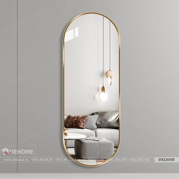 Gương dài toàn thân khung inox mạ PVD vàng Dehome - DPVD616H