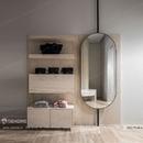 Gương dài soi toàn thân khung sơn tĩnh điện đen Dehome - DKL75160A