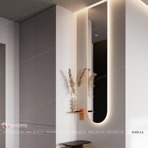 Gương soi toàn thân có đèn led cao cấp Dehome - D419.1A