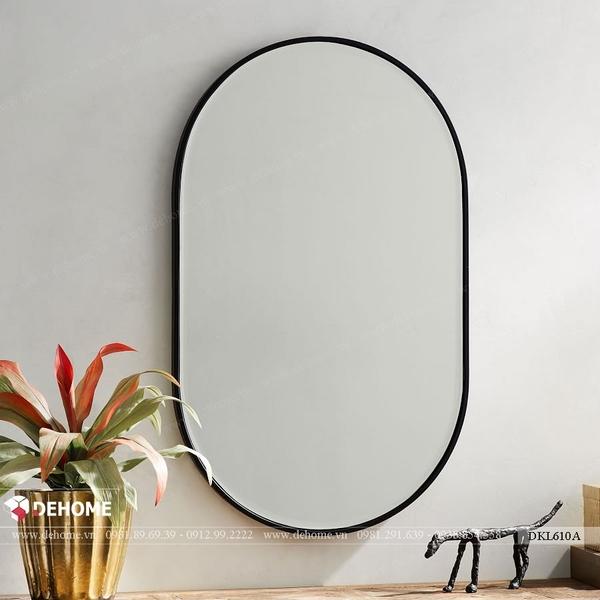 Gương bầu dục khung sơn tĩnh điện phòng tắm Dehome - DKL610A