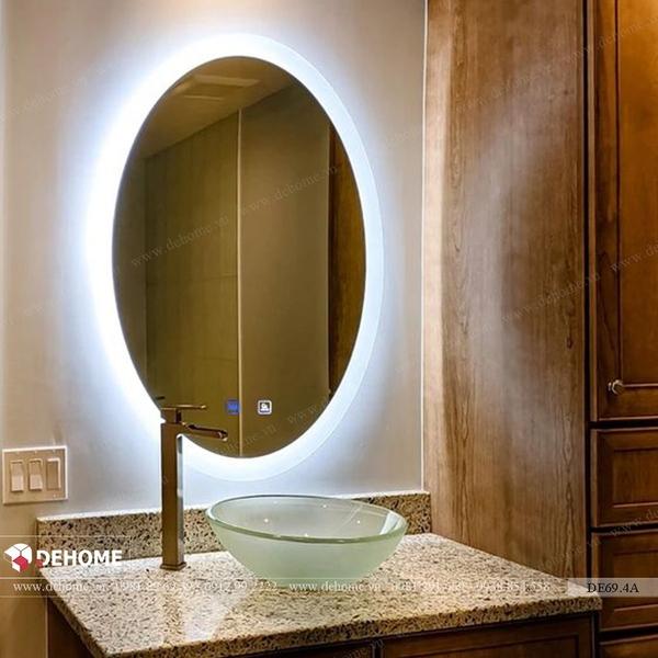 Gương có đèn led hình elip cao cấp Dehome - DE69.4A