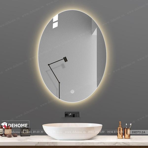 Gương đèn led hình elip phòng tắm cao cấp Dehome - DE575.2A