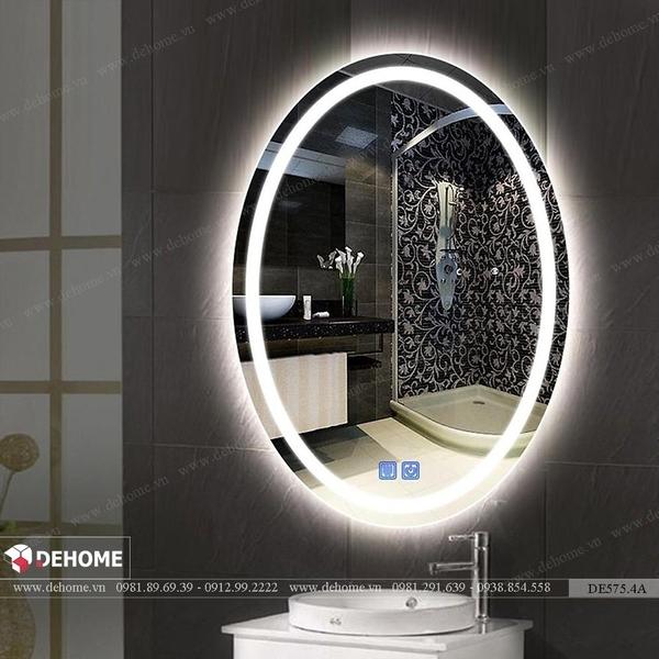 Gương đèn led phòng tắm hình elip/oval Dehome - DE575.4A