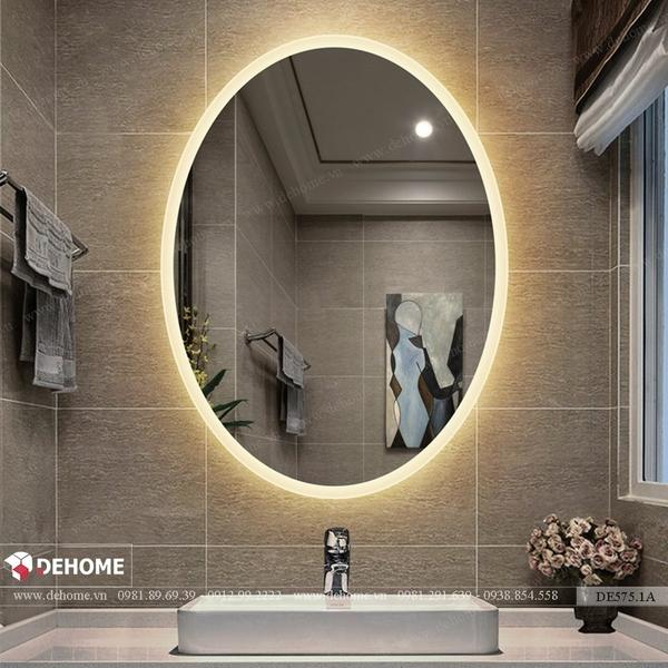 Gương phòng tắm có đèn led hình elip 50 x 75cm Dehome - DE57.1A