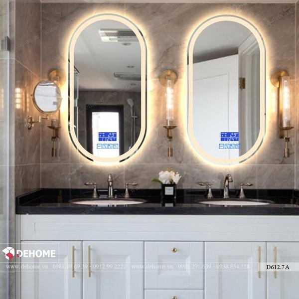 Gương phòng tắm đèn led có kết nối loa bluetooth Dehome - D6127A