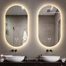 Gương nhà tắm có đèn led hình bầu dục cao cấp Dehome - D612.3A