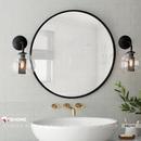 Gương tròn khung sơn tĩnh điện phòng tắm Dehome - DKL50A