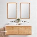 Gương nhà tắm khung gỗ tự nhiên cao cấp Dehome - DG712TNA