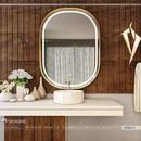 Gương phòng tắm khung gỗ tự nhiên Dehome - DG68.2A