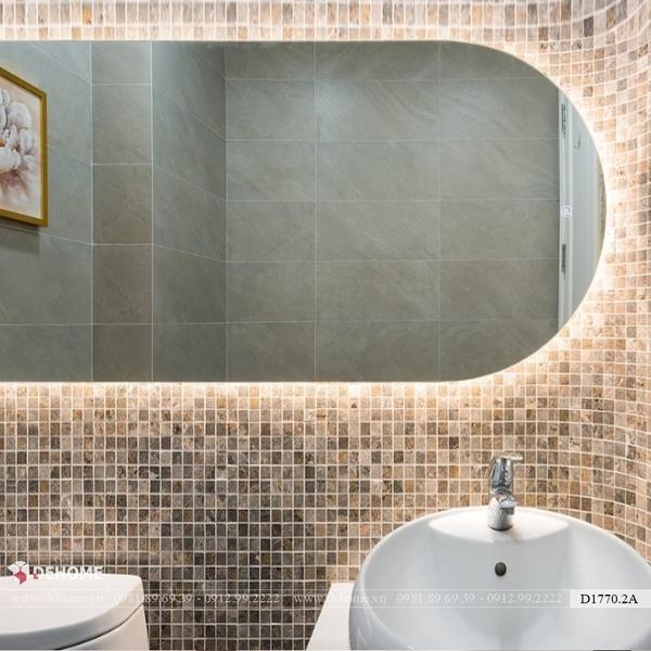 Gương phòng tắm có đèn led cao cấp Dehome - KM16