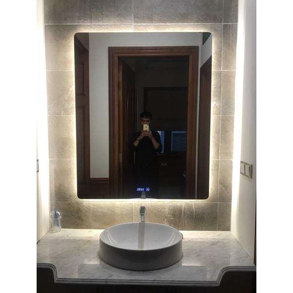 Gương tràn viền chữ nhật kích thước 85x130cm Dehome - KM20