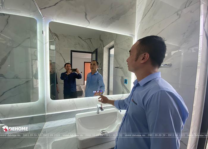 Dehome hoàn thiện cung cấp gương đèn led cao cấp cho biệt thư Anh Long- Tân Phú