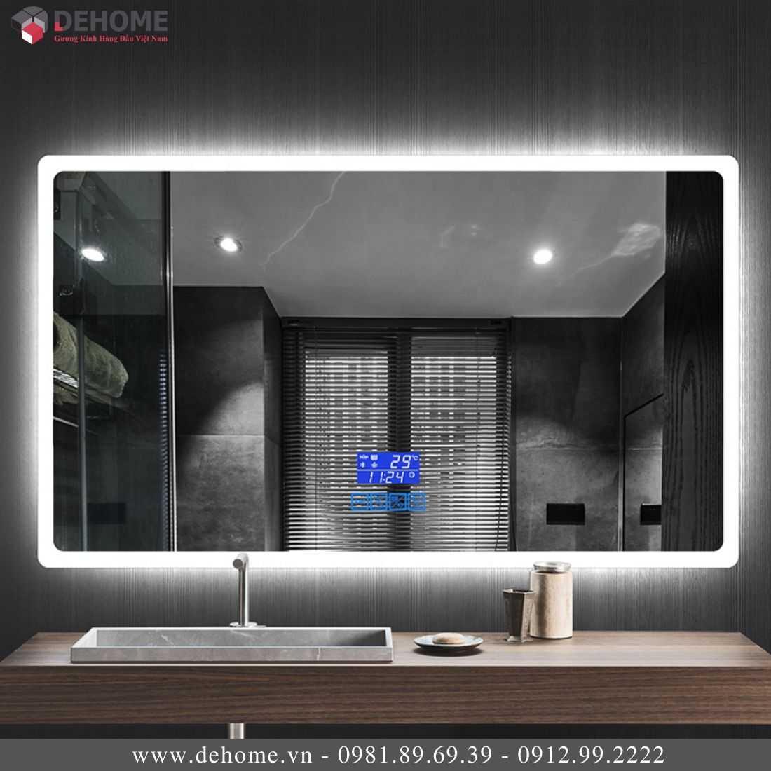 Gương Có Đèn Led Phòng Tắm Cao Cấp Dehome TM103