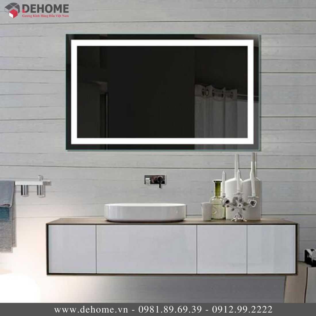 Gương Phòng Tắm Có Đèn LED Dehome DH12-02