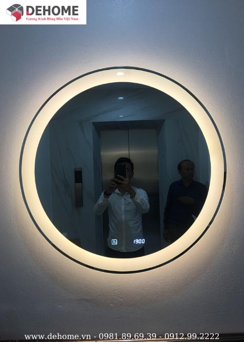 guong tròn phòng tắm dehome